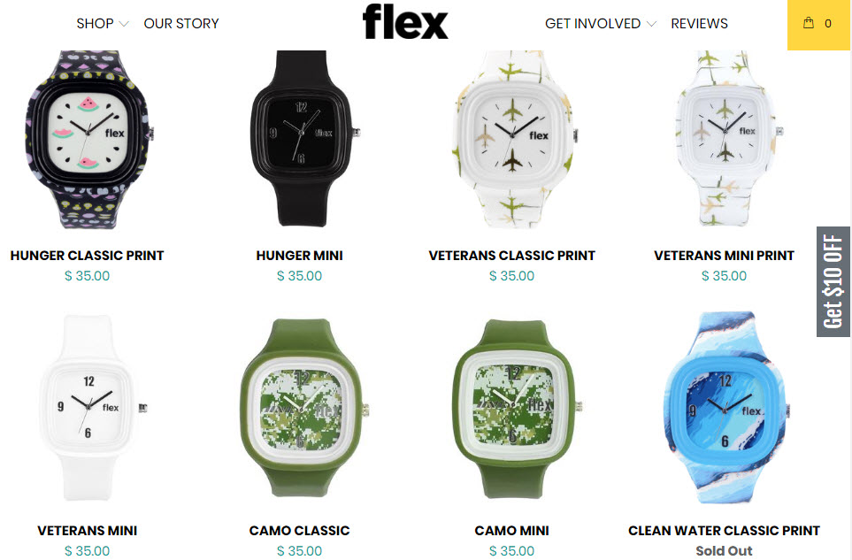 Flex Watches Causes