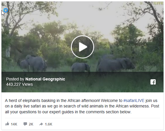 National Geographics Live Video