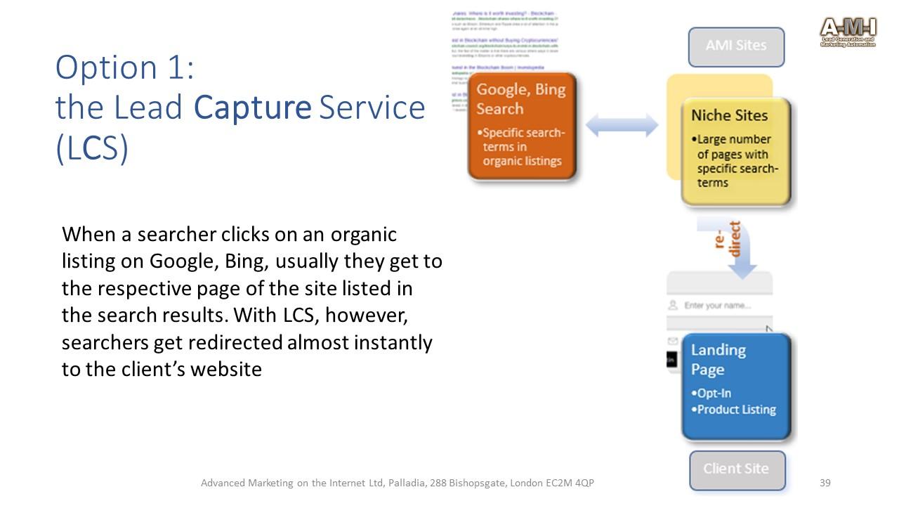 FAQ Lead Capture Service - A-M-I Digital Marketing